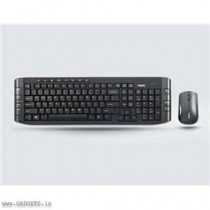 Rapoo 2.4GHz Wireless Multi-media Optical Mouse and Keyboard Combo (Black) - 8130