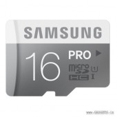 Samsung MicroSDHC 16GB PRO Class 10  Memory Card with Adapter - MB-MG16DA