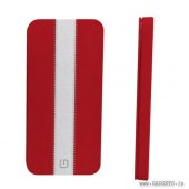 Gosh Signature Leather Case for iPhone5 Red and Creme - E80