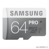 Samsung MicroSDHC 64GB PRO Class 10  Memory Card with Adapter - MB-MG64DA