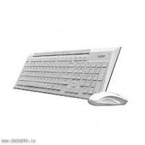 Rapoo 8200P Mouse and Keyboard Combo - White