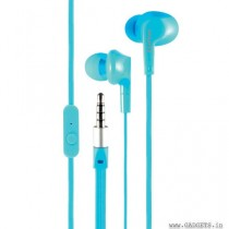 CLiPtec NEON-ROCK In-Ear Earphone with Microphone Blue BME737