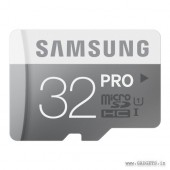 Samsung MicroSDHC 32GB PRO Class 10  Memory Card with Adapter - MB-MG32DA