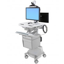 Ergotron StyleView Telemedicine Cart with Back-to-Back SV44-57T1
