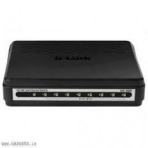 D-LINK 10/100 8 Ports Unmanaged Switch (Black) - DES-1008A