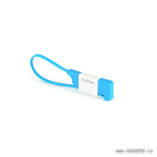 CLiPtec The Lock Slim Flat USB 2.0 Micro-B Cable OCC100 Blue