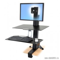 Ergotron WorkFit-S Single HD with Worksurface Plus 33-351-200
