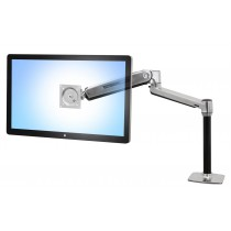 Ergotron LX HD Sit-Stand Desk Mount LCD Arm Polished 45-384-026