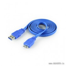CLiPtec Slim Flat USB 3.0 to Micro-B Cable 1.5m OCC122 Blue