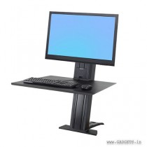 Ergotron WorkFit SR 1 Monitor Sit Stand Desktop Workstation Black 33-415-085