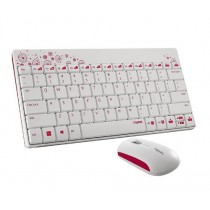 Rapoo Wireless Optical Keyboard and Mouse Combo (White) - 8000