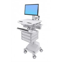 Ergotron StyleView Cart with LCD Pivot, SLA Powered SV44-1331-6