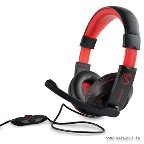 CLiPtec POISON P8 C-Cobra Stereo Multimedia PC Gaming Headset Black BGH668