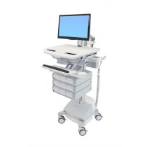 Ergotron StyleView Cart with LCD Pivot, SLA Powered SV44-1391-6