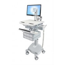 Ergotron StyleView Cart with LCD Pivot, LiFe Powered SV44-1362-B