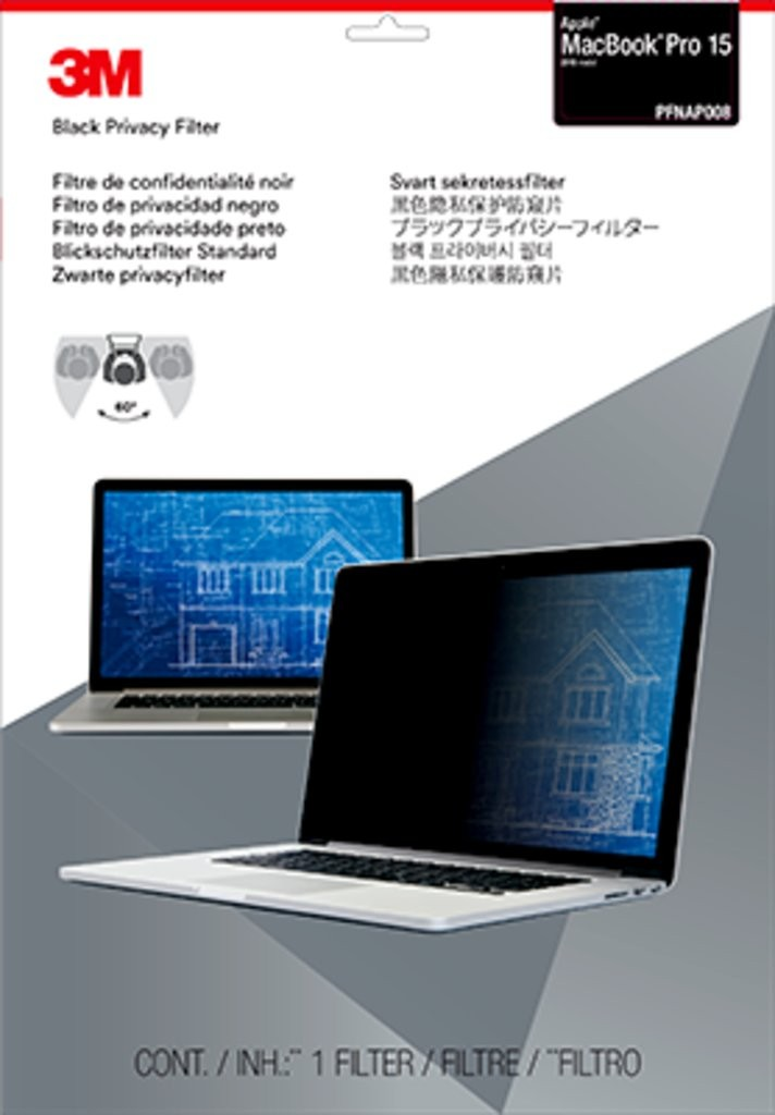 3M 15.0 inch Privacy Filter for MacBook Pro 15-2016 model (PFNAP008)