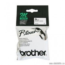 Brother PT-80 MK221 P-Touch Tape 9mm tape Black on White