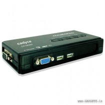 Cadyce 4 Port USB Desktop KVM Switch CA-UK400