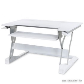 Ergotron WorkFit-T Sit-Stand Desktop Workstation White 33-397-062