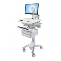 Ergotron StyleView Cart with LCD Pivot, 4 Drawers SV43-1340-0