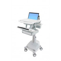 Ergotron StyleView Laptop Cart, LiFe Powered, 1 Drawer SV44-1112-B