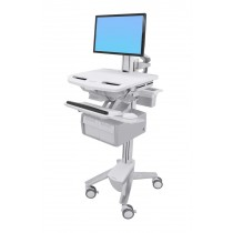 Ergotron StyleView Cart with LCD Pivot, Tall Double Drawer SV43-13C0-0