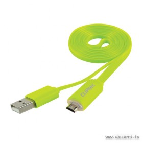 CLiPtec The Light USB 2.0 Micro-B Cable with Charging Light OCC102 Green