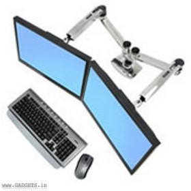 ERGOTRON LX Desk Mount Dual Side-by-Side Arm (45-245-026)