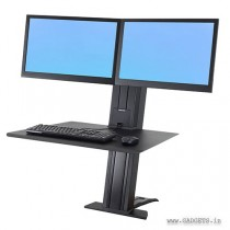 Ergotron WorkFit-SR Dual Monitor Sit-Stand Desktop Workstation Black 33-407-085