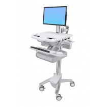 Ergotron StyleView Cart with LCD Pivot, Double Drawer SV43-13A0-0