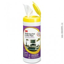 3M CL564 Disinfecting Desk and Office Wipes 25 Per Canister