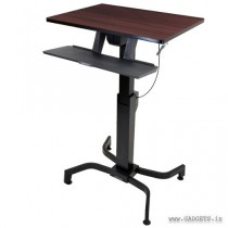 Ergotron WorkFit-PD Sit-Stand Desk Walnut 24-280-927