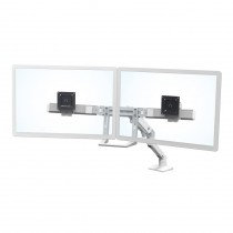 Ergotron HX Desk Dual Monitor Arm, White 45-476-216