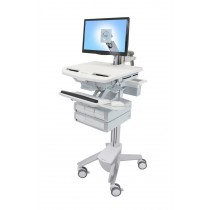 Ergotron StyleView Cart with LCD Arm, 4 Drawers SV43-1240-0