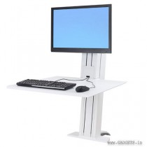 Ergotron WorkFit-SR 1 Monitor Sit-Stand Desktop Workstation White 33-415-062