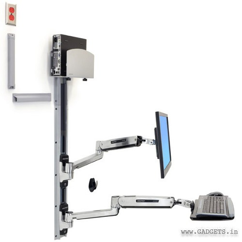 Ergotron LX Sit-Stand Wall Mount System 45-358-026