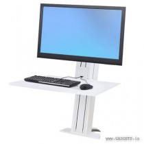 Ergotron WorkFit-SR Hvy Monitor Sit-Stand Desktop Workstation White 33-416-062