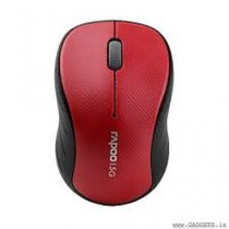 Rapoo Wireless Optical Mouse (Red) - 3000p