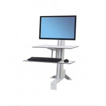 Ergotron WorkFit-S, Single-HD, Worksurface & Large Kybd 33-351-211