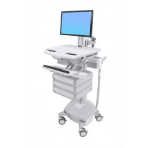 Ergotron StyleView Cart with LCD Pivot, LiFe Powered SV44-1332-5