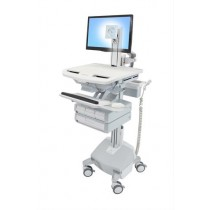 Ergotron StyleView Cart with LCD Pivot, LiFe Powered SV44-1342-B