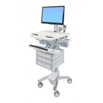 Ergotron StyleView Cart with LCD Pivot, 9 Drawers SV43-1390-0