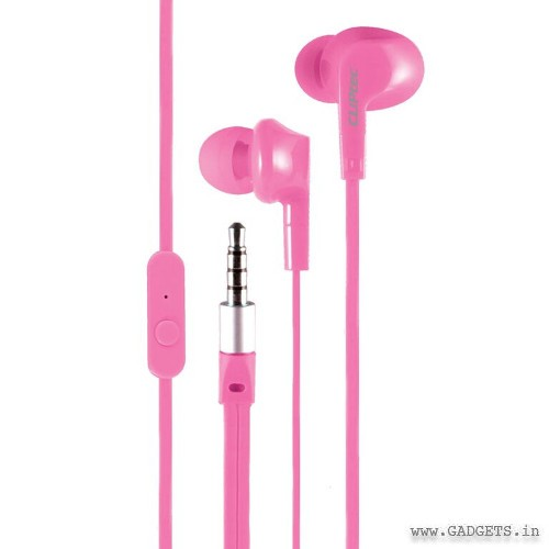 CLiPtec NEON-ROCK In-Ear Earphone with Microphone Pink BME737