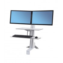 ERGOTRON WorkFit-S, Dual Sit-Stand, Worksurface & Large Kybd (33-349-211)