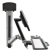ERGOTRON StyleView Sit-Stand Combo System Bright White (45-273-216)