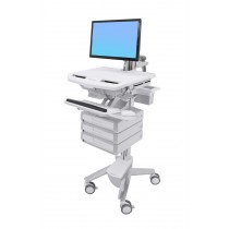 Ergotron StyleView Cart with LCD Arm, 3 Drawers SV43-1230-0