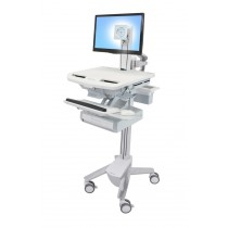Ergotron StyleView Cart with LCD Pivot, 2 Drawers SV43-1320-0