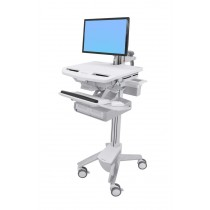 Ergotron StyleView Cart with LCD Arm, Double Drawer SV43-12A0-0