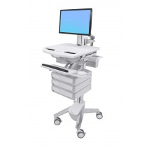 Ergotron StyleView Cart with LCD Pivot, 3 Drawers SV43-1330-0
