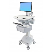 Ergotron StyleView Cart with LCD Pivot, SLA Powered, Tall SV44-13B1-6